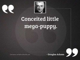 Conceited little mega puppy