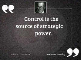 Control is the source of