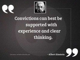 Convictions can best be supported