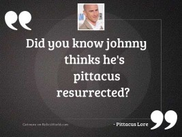 Did you know Johnny thinks