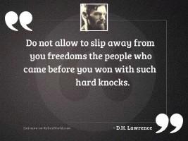 Do not allow to slip
