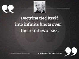 Doctrine tied itself into infinite