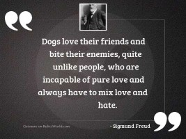 Dogs love their friends and