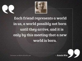 Each friend represents a world