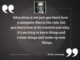 Education is not just you
