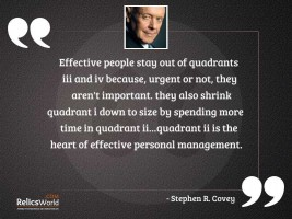 Effective people stay out of