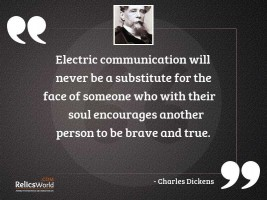 Electric communication will never be