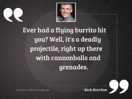 Ever had a flying burrito
