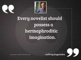 Every novelist should possess a