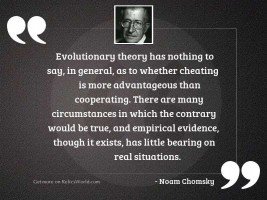 Evolutionary theory has nothing to