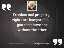 Freedom and Property Rights are