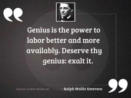 Genius is the power to