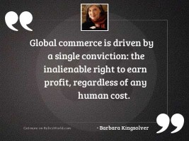 Global commerce is driven by