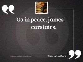 Go in peace James Carstairs