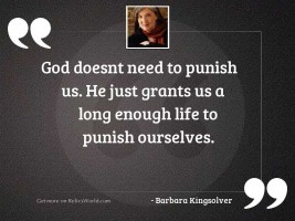 God doesnt need to punish