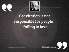 Gravitation is not responsible for