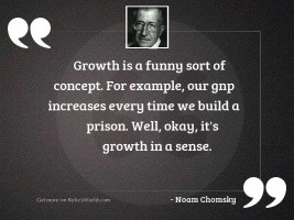 Growth is a funny sort