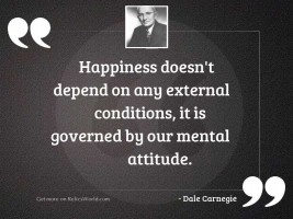 Happiness doesn't depend on