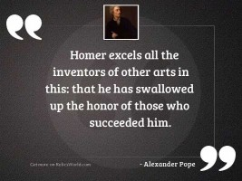 Homer excels all the inventors