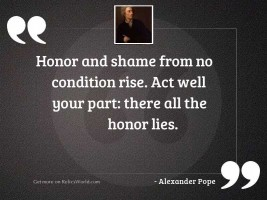 Honor and shame from no