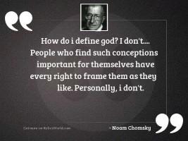 How do I define God?