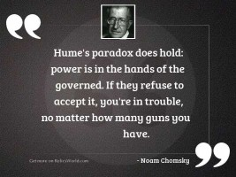 Hume's paradox does hold: