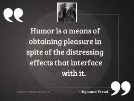 Humor is a means of