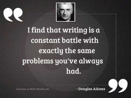 I find that writing is