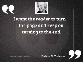 I want the reader to