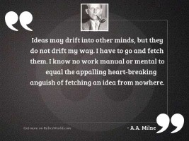 Ideas may drift into other