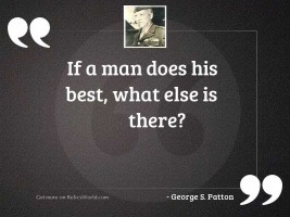 If a man does his