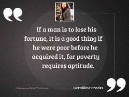 If a man is to