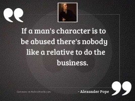 If a man's character
