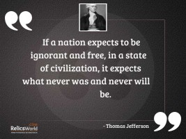 If a nation expects to