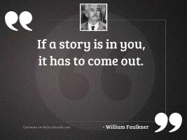 If a story is in