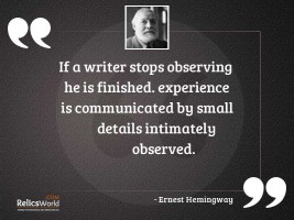 If a writer stops observing