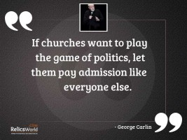 If churches want to play