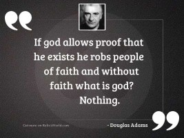 If God allows proof that