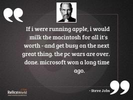 If I were running Apple