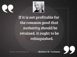 If it is not profitable