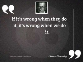 If it's wrong when