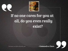If no one cares for