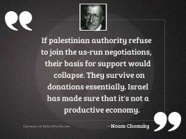 If Palestinian Authority refuse to