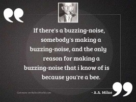 If there's a buzzing-