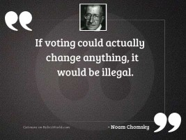If voting could actually change