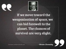 If we move toward the