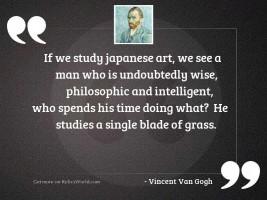 If we study Japanese art,