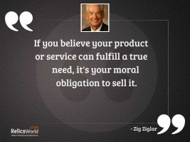 If you believe your product
