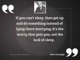 If you can't sleep,
