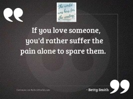 If you love someone, you'